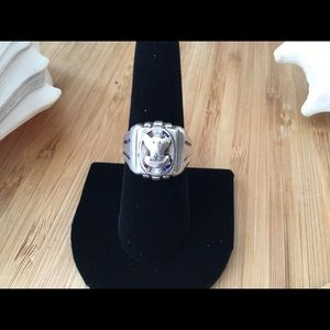 Vintage Sterling Silver Eagles Scout Ring Size 8 for sale